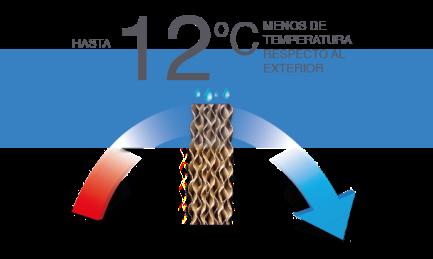 Hasta 12 grados menos